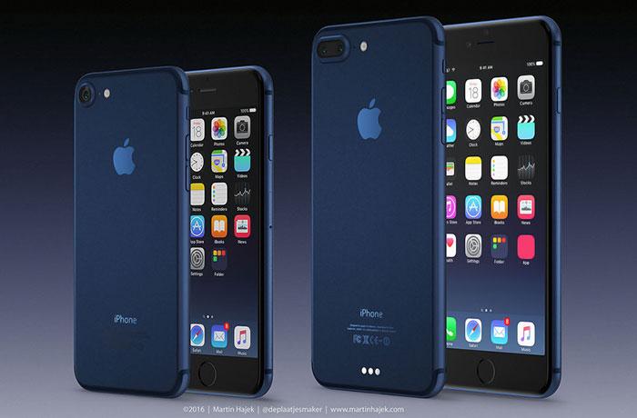 iPhone 7 en iPhone 7 PRO concept naast elkaar