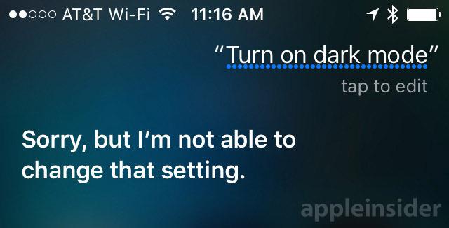 Siri verklapt mogelijk donkere stand van iOS 10.