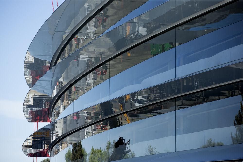 Apple Campus 2: glasplaten