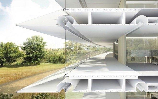 Apple Campus 2: doorsnede van beton