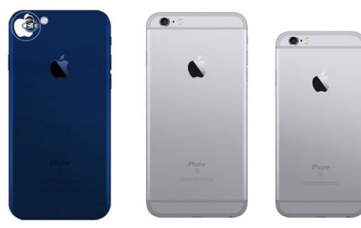 iPhone 7 in blauw
