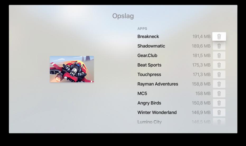 Opslag bekijken op je Apple TV.