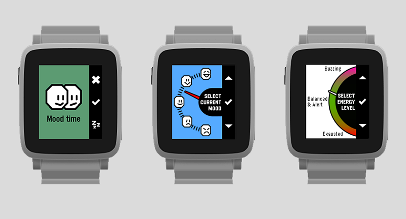 Pebble Happiness app
