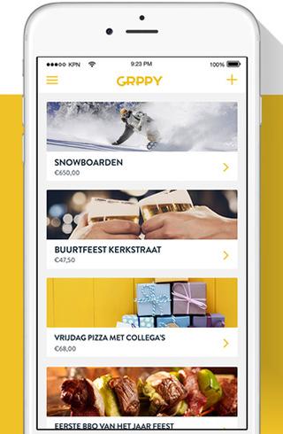Digitale groepspot app GRPPY - Rabobank