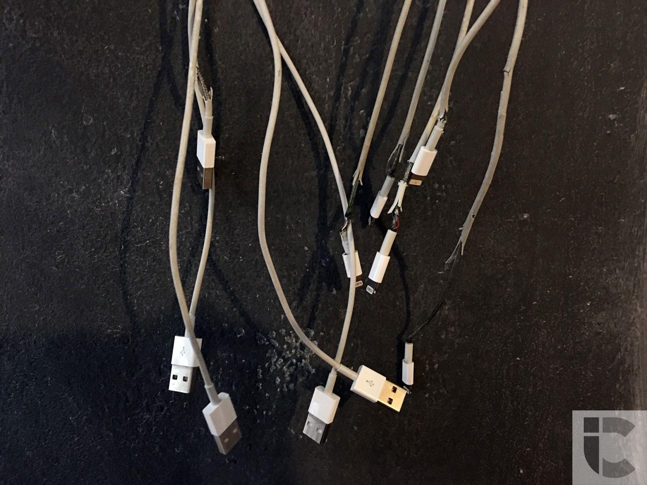 Kapotte Lightning-kabels