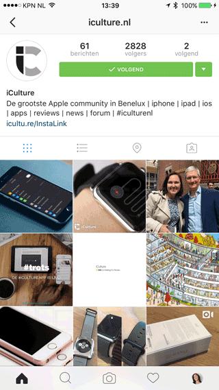 Instagram-account van iCulture
