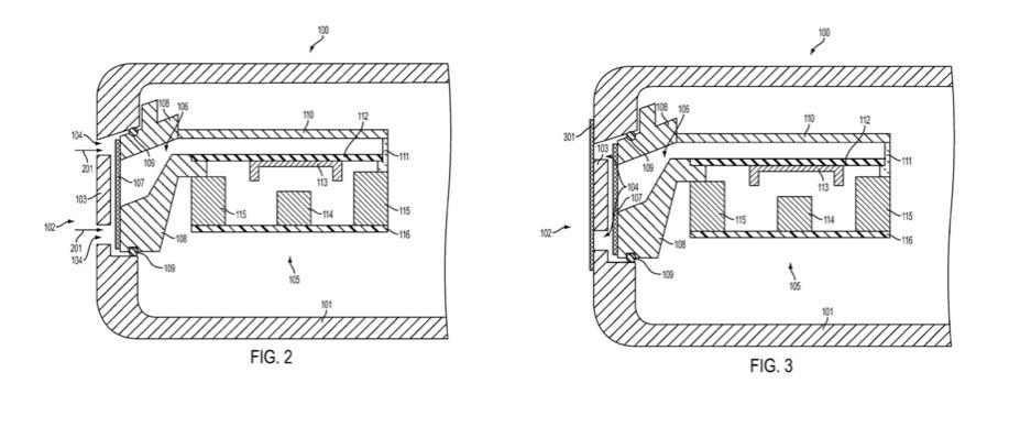 Patent van Apple met techniek voor waterdichte speaker.