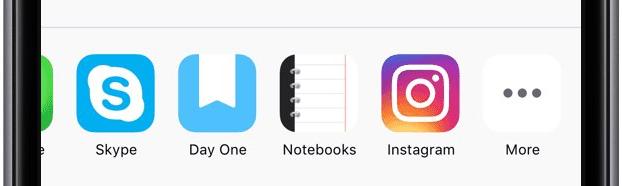 Instagram iOS-extensie delen
