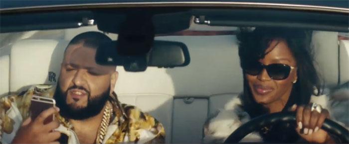 DJ Khaled en Naomi Campbell in reclamespot voor Apple Music