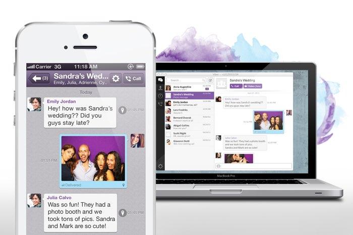 Viber op desktop en iPhone