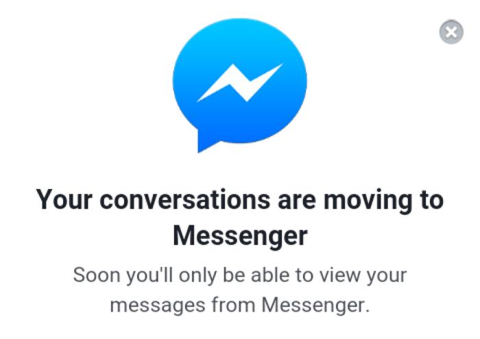 Messenger-app verplicht