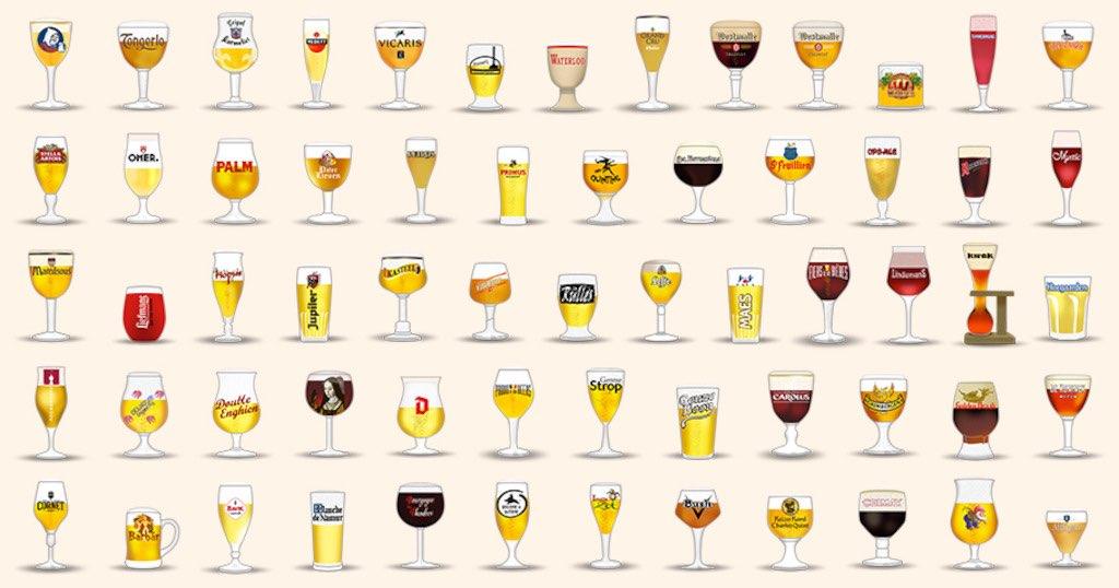 Belgische bieren in emoji
