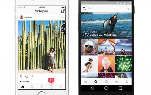 Instagram-tijdlijn