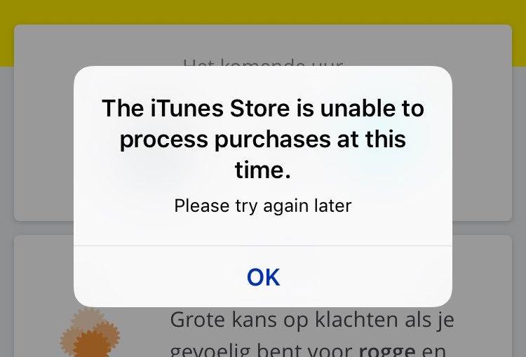 iTunes melding