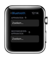 Bluetooth-apparaten verbinden met de Apple Watch.
