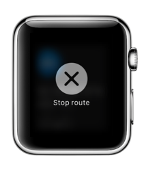 Stop route op een Apple Watch.
