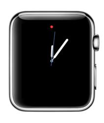 Eenvoudige wijzerplaat op een Apple Watch.