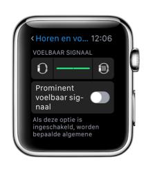 Voelbaar signaal instellen op de Apple Watch.