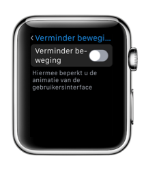 Verminder beweging op de Apple Watch.
