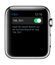 Hé Siri op de Apple Watch.