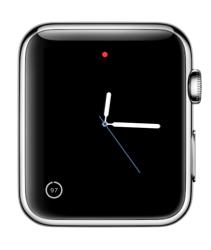Eenvoudige wijzerplaat met batterijindicatie op de Apple Watch.