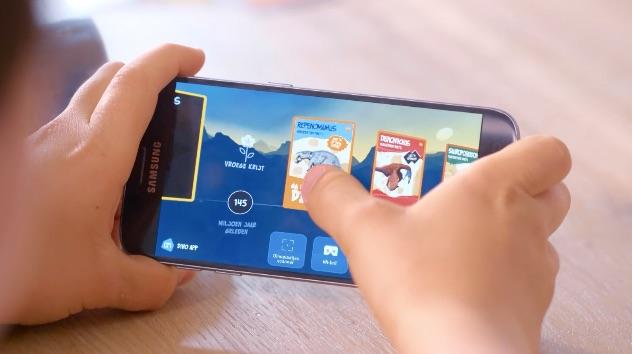 Albert Heijn VR-app voor dino's.