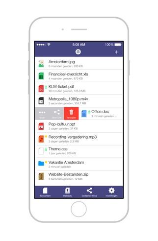 Stack Storage van TransIP op de iPhone.