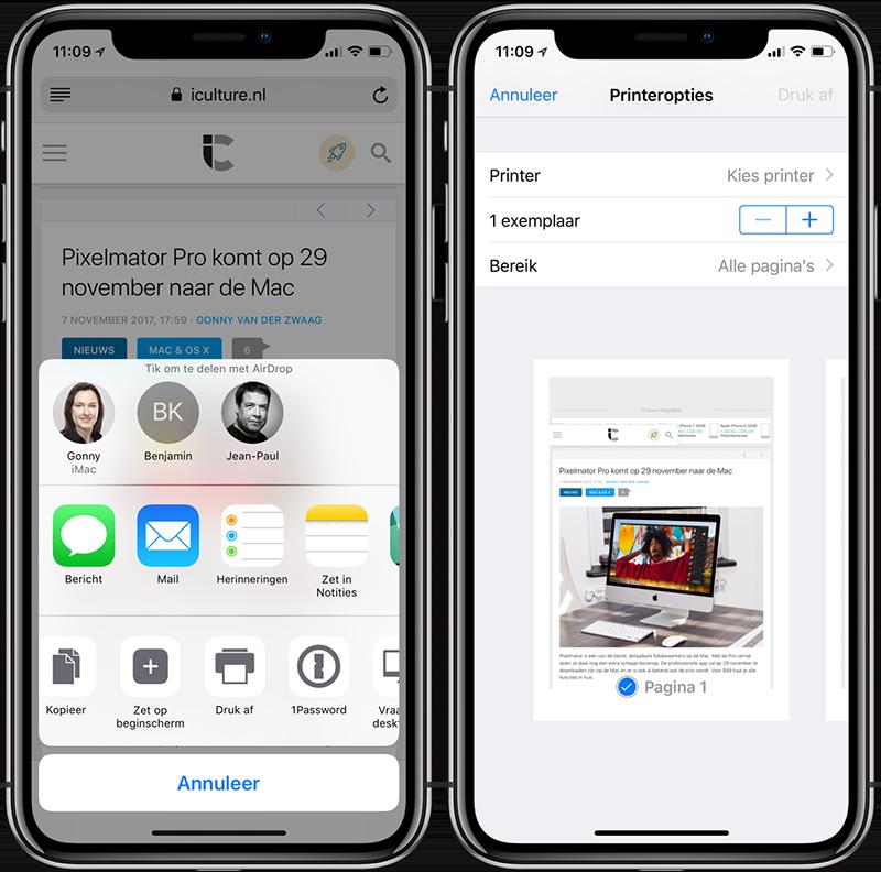 PDF maken in iOS via deelmenu