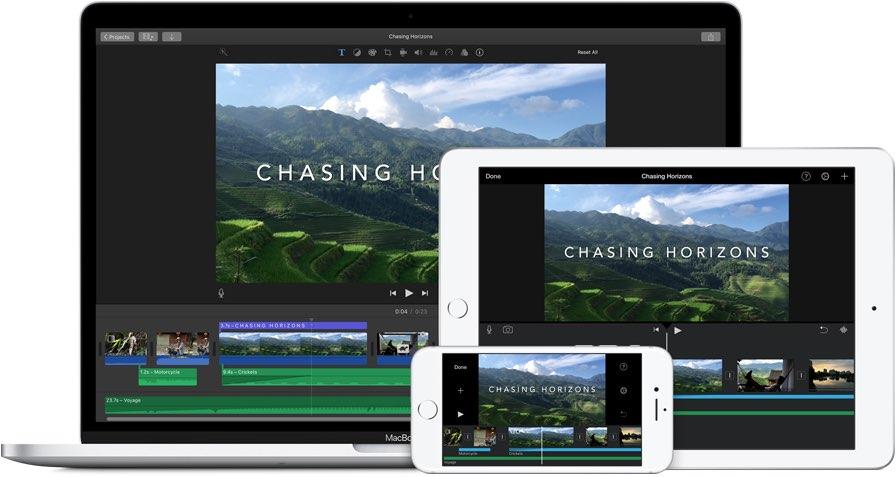 iMovie voor iOS en macOS