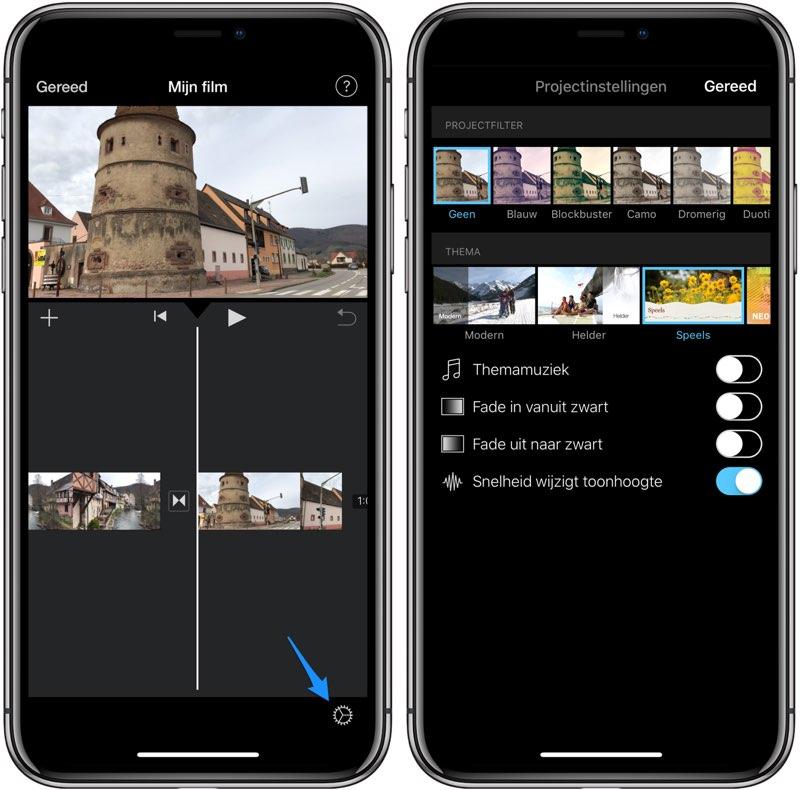 iMovie thema kiezen