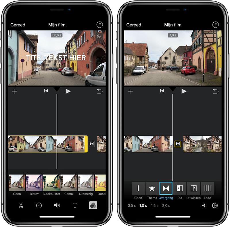iMovie effecten en inkorten