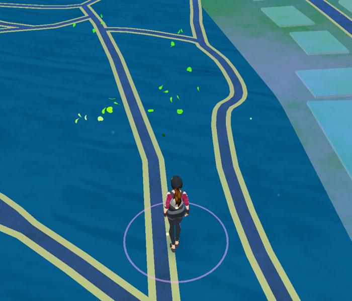 Pokémon Go groene blaadjes