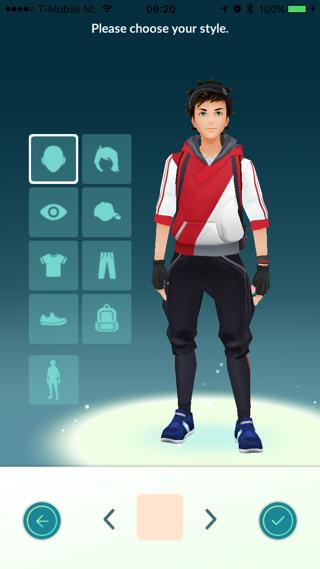 Pokemon Go trainer: uiterlijk aanpassen