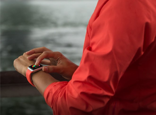 Apple Watch abrikoos bandje