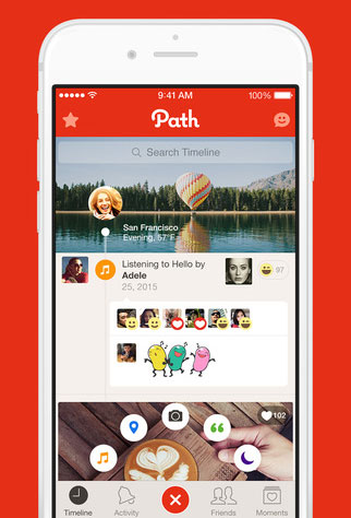 Path op de iPhone