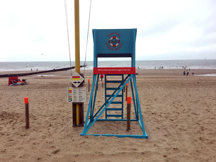 Vodafone strandwacht met KinderBrigade