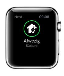Nest voor Apple Watch herkent of je afwezig bent.
