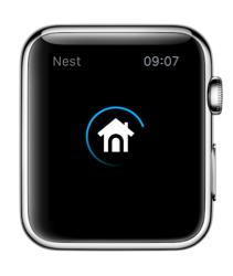 Laadscherm van Nest op de Apple Watch.