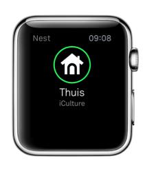 Nest voor Apple Watch herkent of je thuis bent.