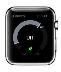 Nest voor Apple Watch met temperatuur.