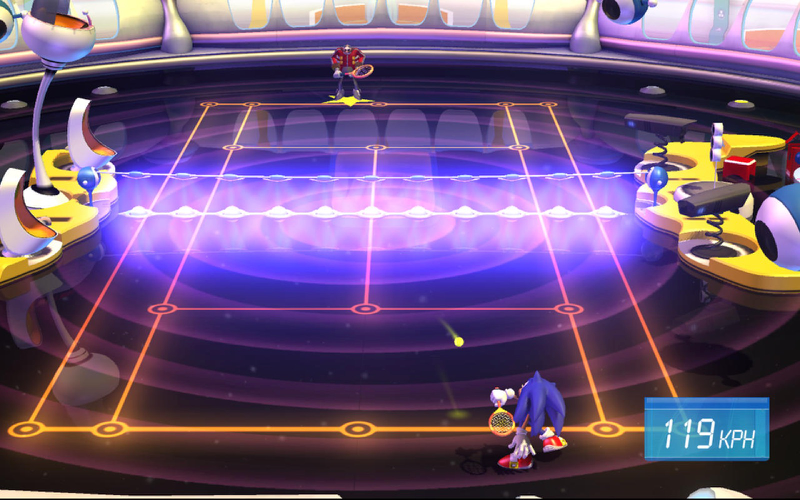 Tennissen met Sonic in SEGA Superstars Tennis.