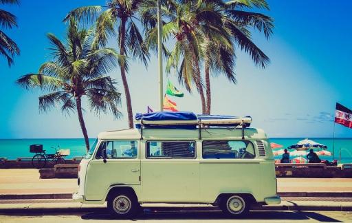 VW Camper, internetten op vakantie