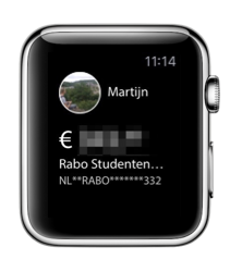 Rabo Bankieren met Apple Watch-app.
