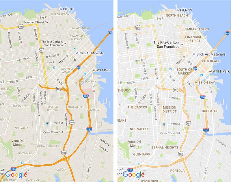 Google Maps - vernieuwde kaarten