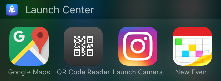 Launch Center Pro - vandaag weergave widget
