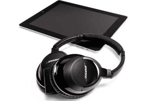 Bose headphones met iPad