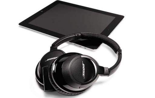 Bose headphones met iPad