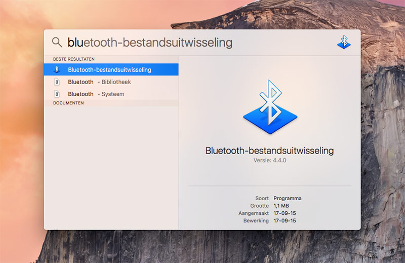 Bluetooth-bestandsuitwisseling