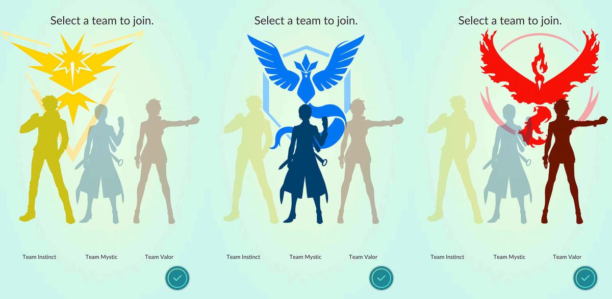 Pokémon Go team kiezen