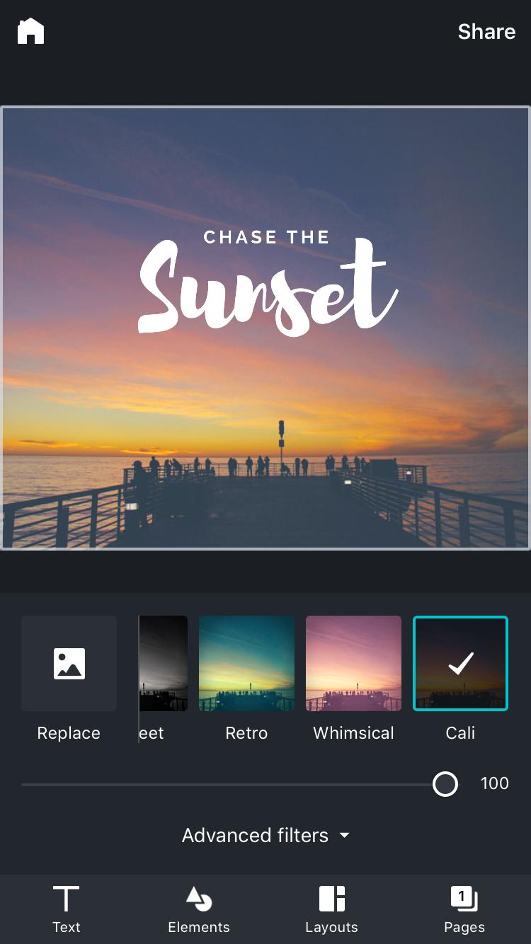 Canva-app - bewerken